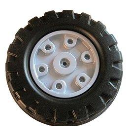 BIG BIG Rear wheel right with silver gray hubcap
