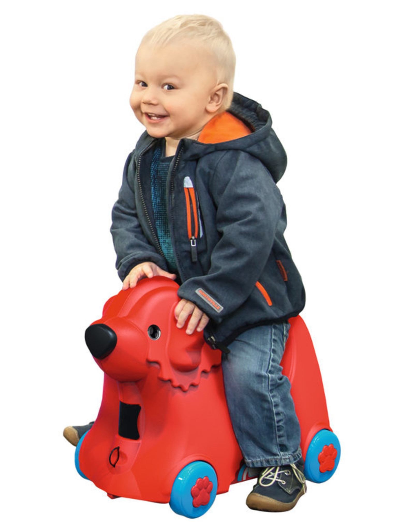 BIG BIG Bobby rolkoffer rood