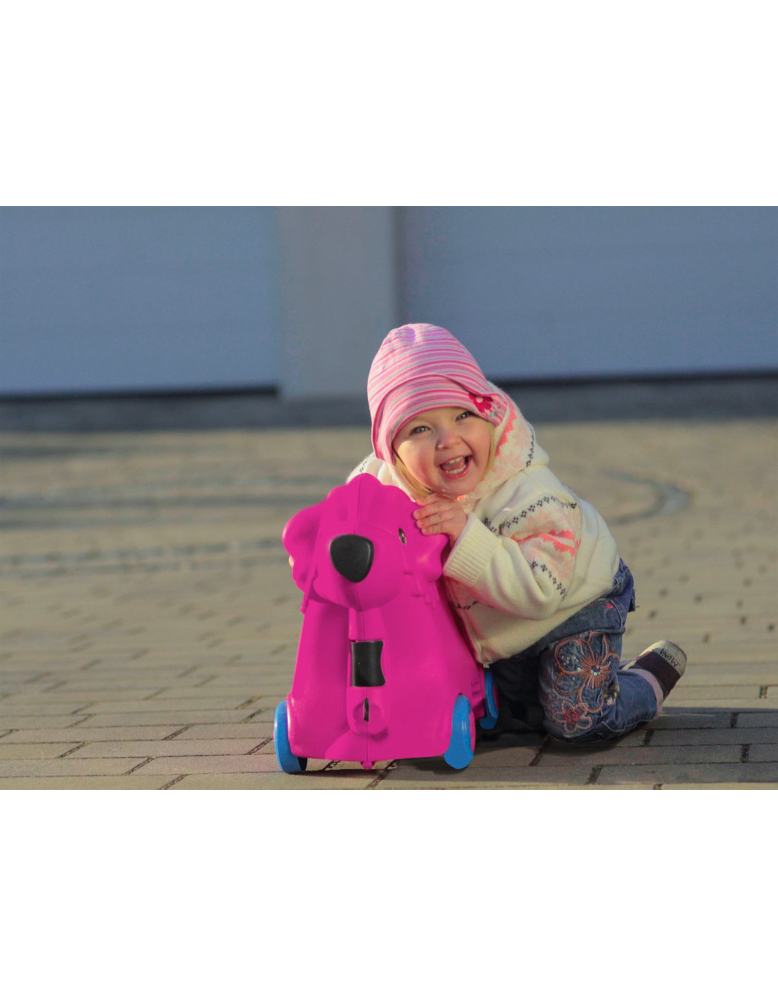 BIG BIG Bobby rolkoffer roze