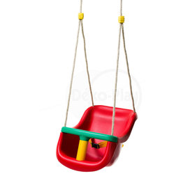 Déko-Play Déko-Play toddler swingseat Red with PH ropes