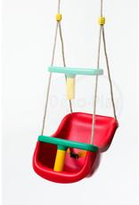 Déko-Play Déko-Play peuter schommelstoel Rood met PH touwen