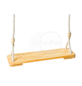 Déko-Play Déko-Play wooden swingseat with 12mm PH ropes
