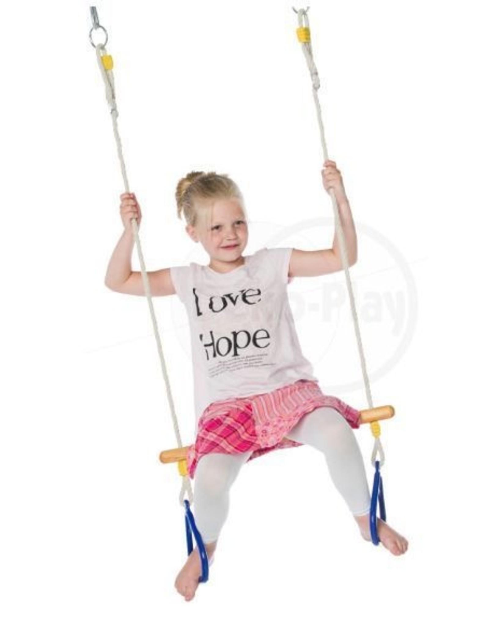 Déko-Play Déko-Play trapeze met massief kunststof ringen blauw