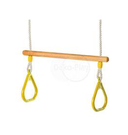 Déko-Play Déko-Play trapeze met massief kunststof ringen geel
