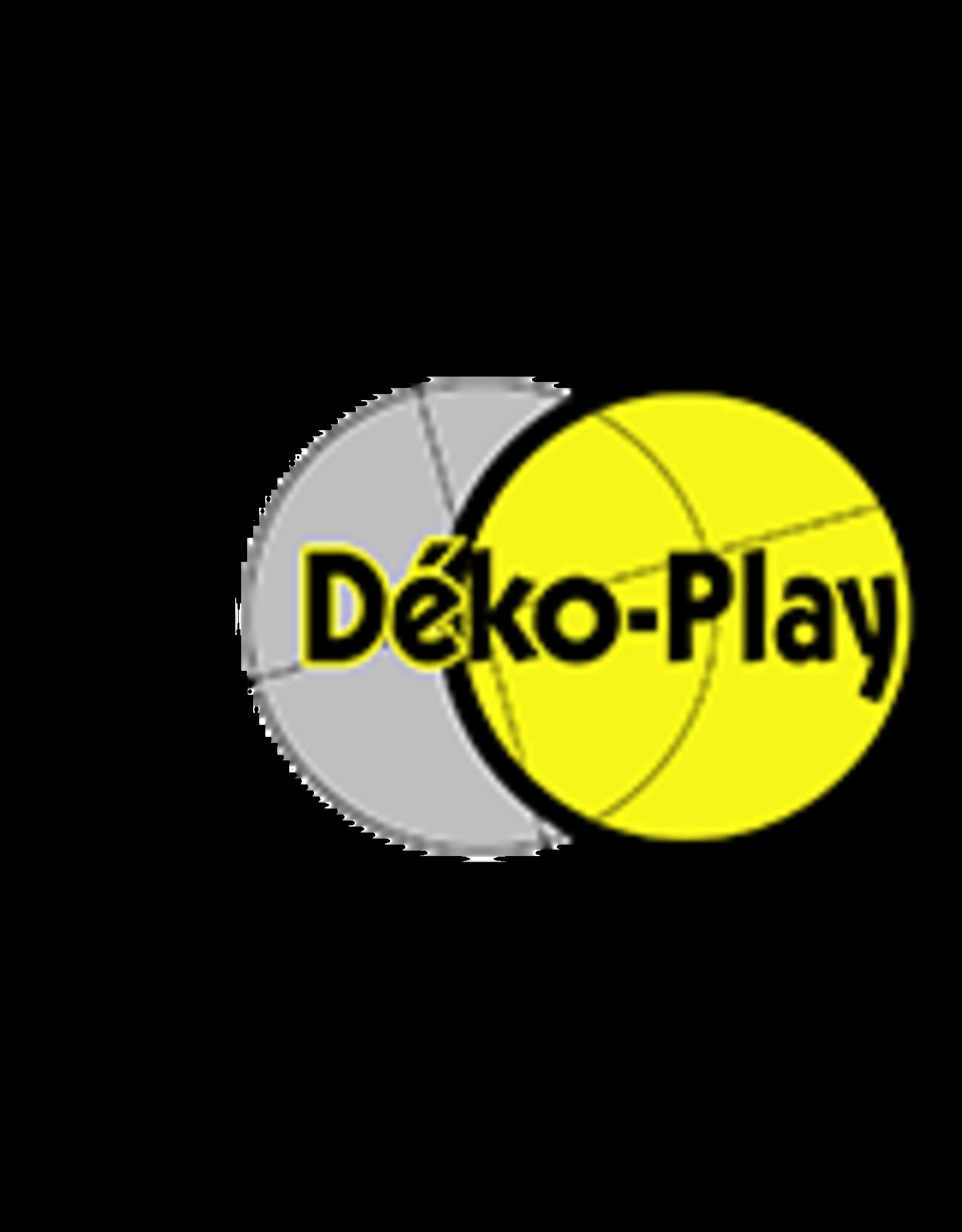 Déko-Play Déko-Play massief kunststof driehoeksringen rood