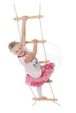 Déko-Play Déko-Play touwladder 2,4 meter met 7 houten sporten