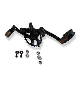 BERG BERG XL Rahmen - Tretlager mit Kurbel set 140, 36T + pedalen