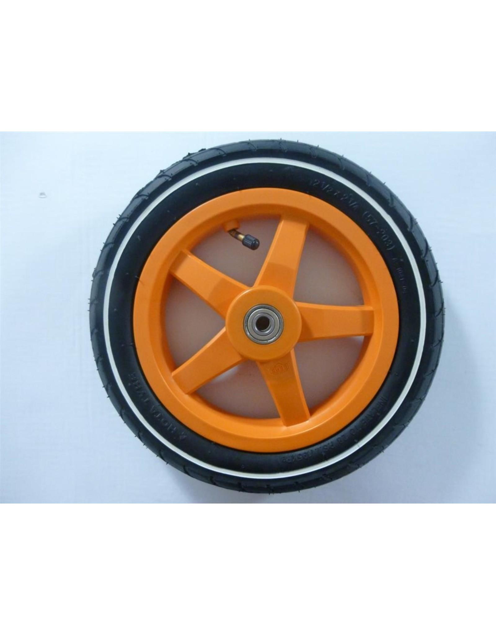 BERG BERG Buddy wiel 12,5X8 oranje slick witte streep