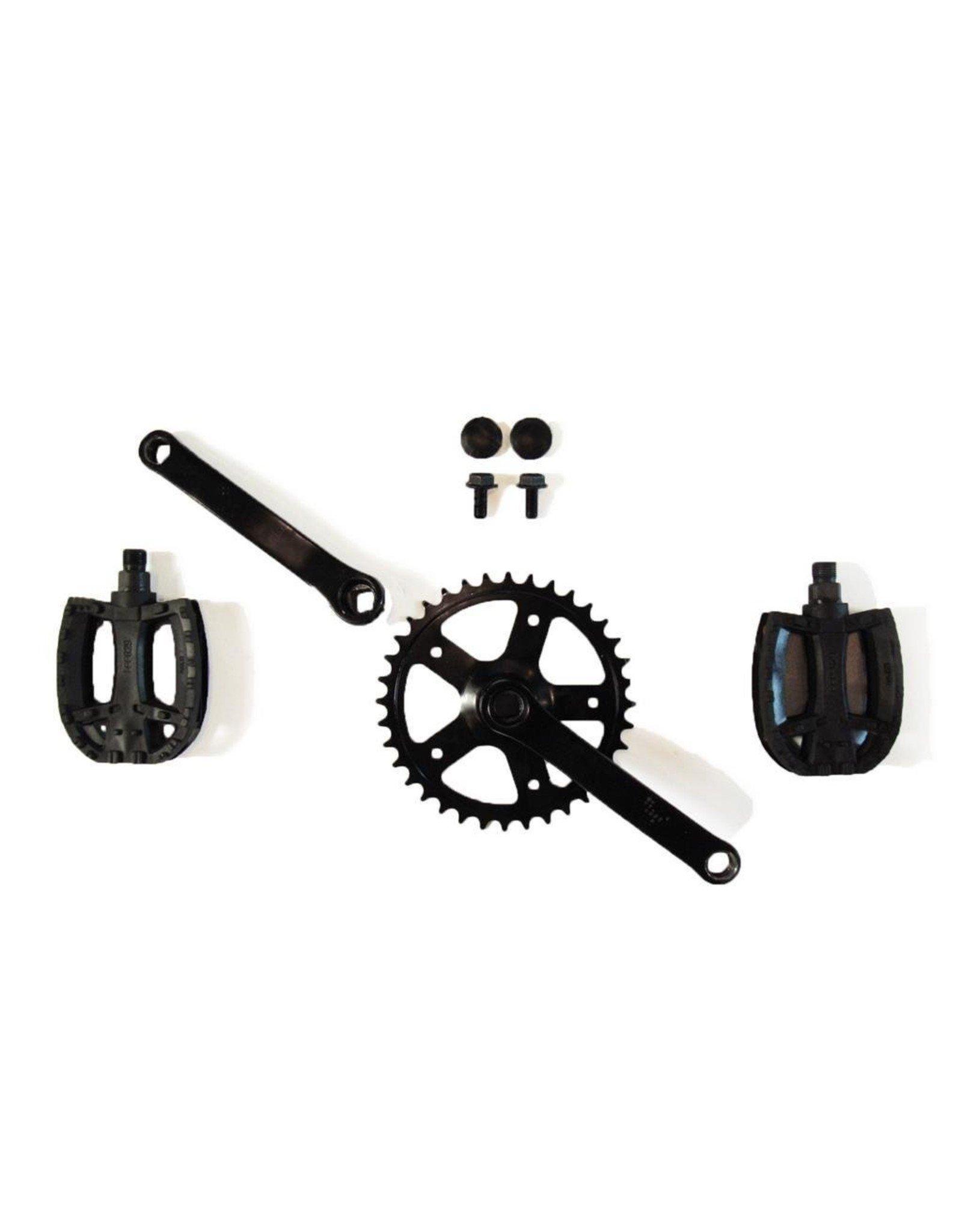 BERG Crank set 140, 36T + pedalen