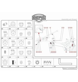 BERG BERG XL Rahmen - Montageset für Rahmenpaket