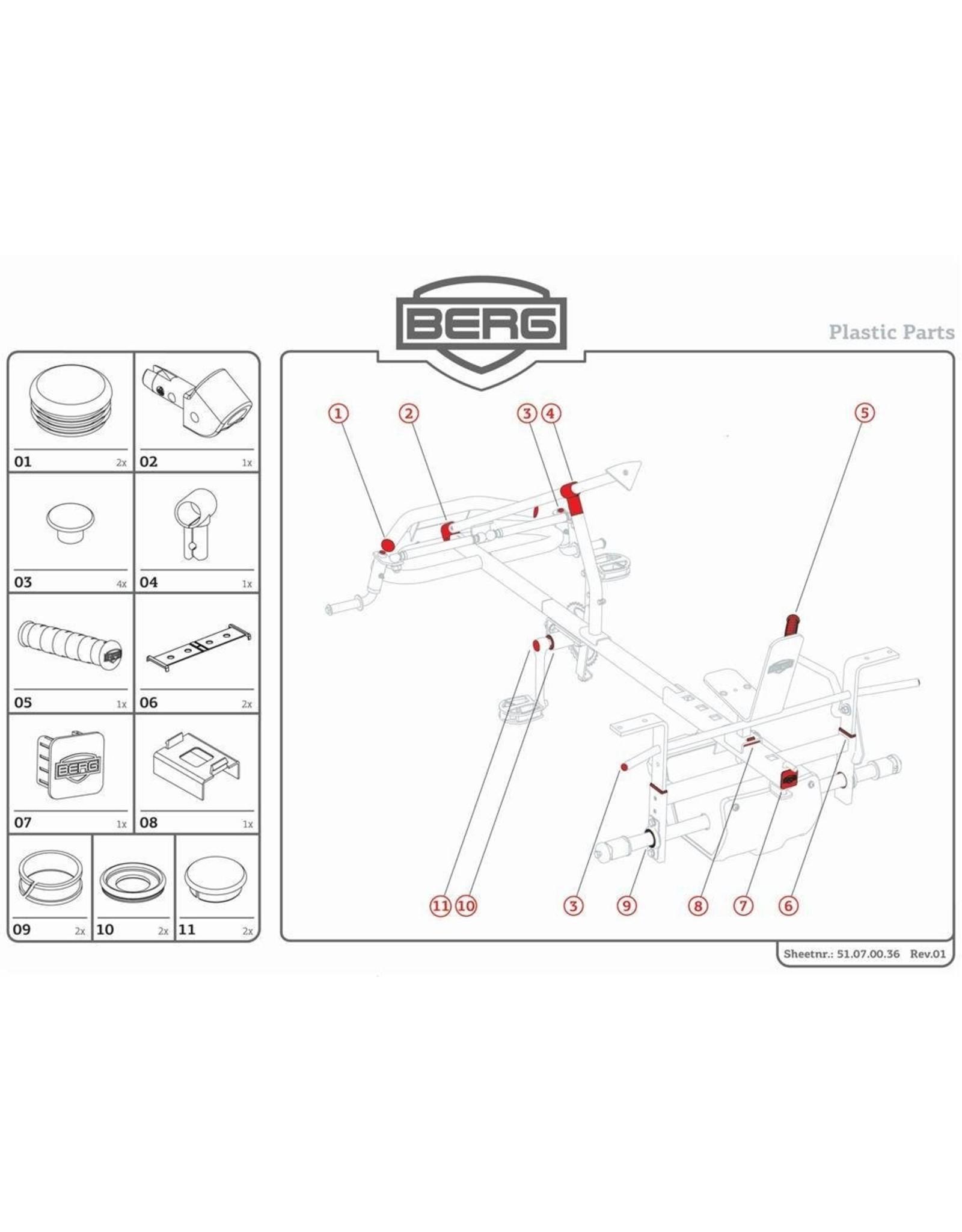 BERG BERG XL Rahmen - Kunststoffteileset
