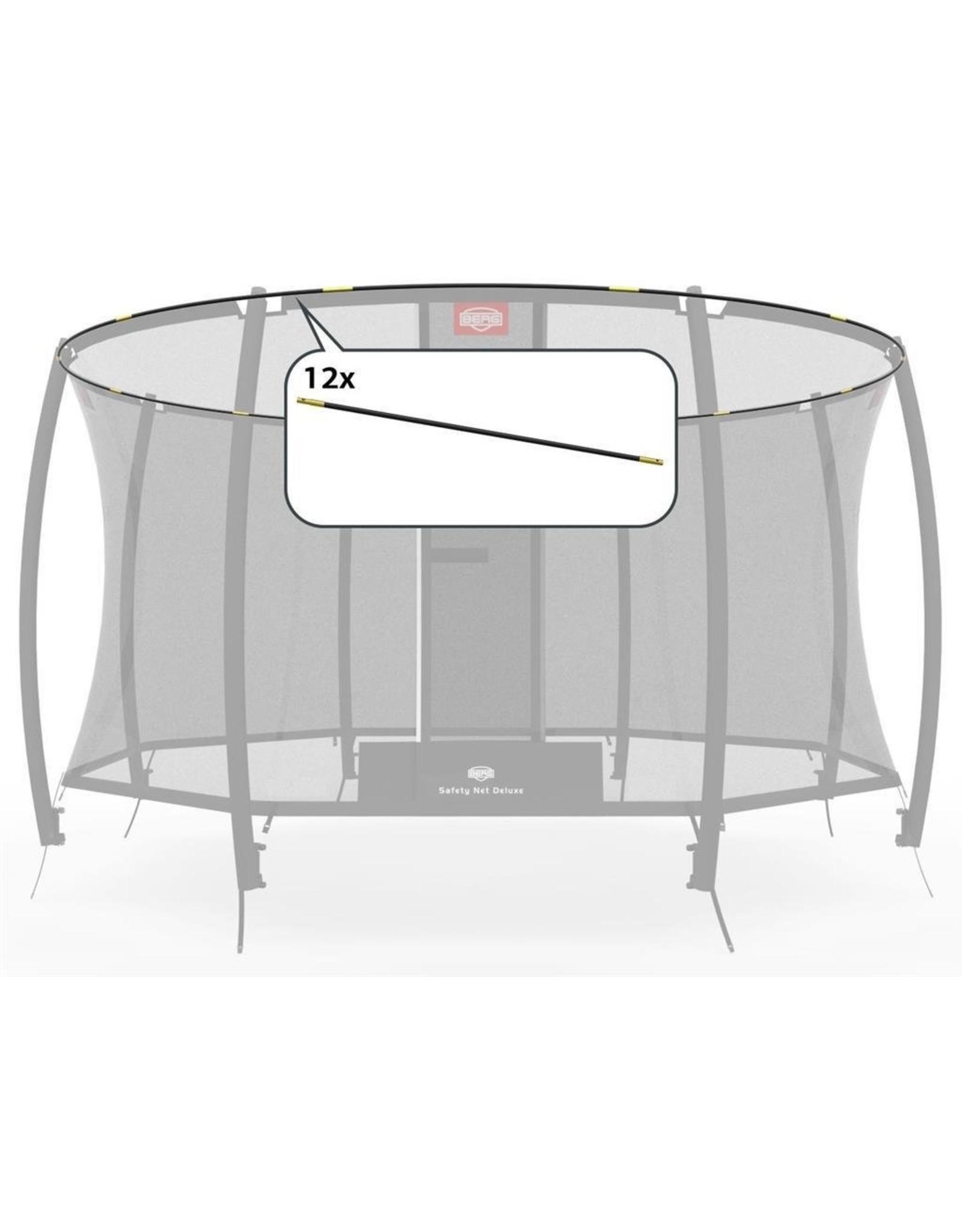 BERG BERG Sicherheitsnetz Deluxe - FiBERGlasstangen-Set 380