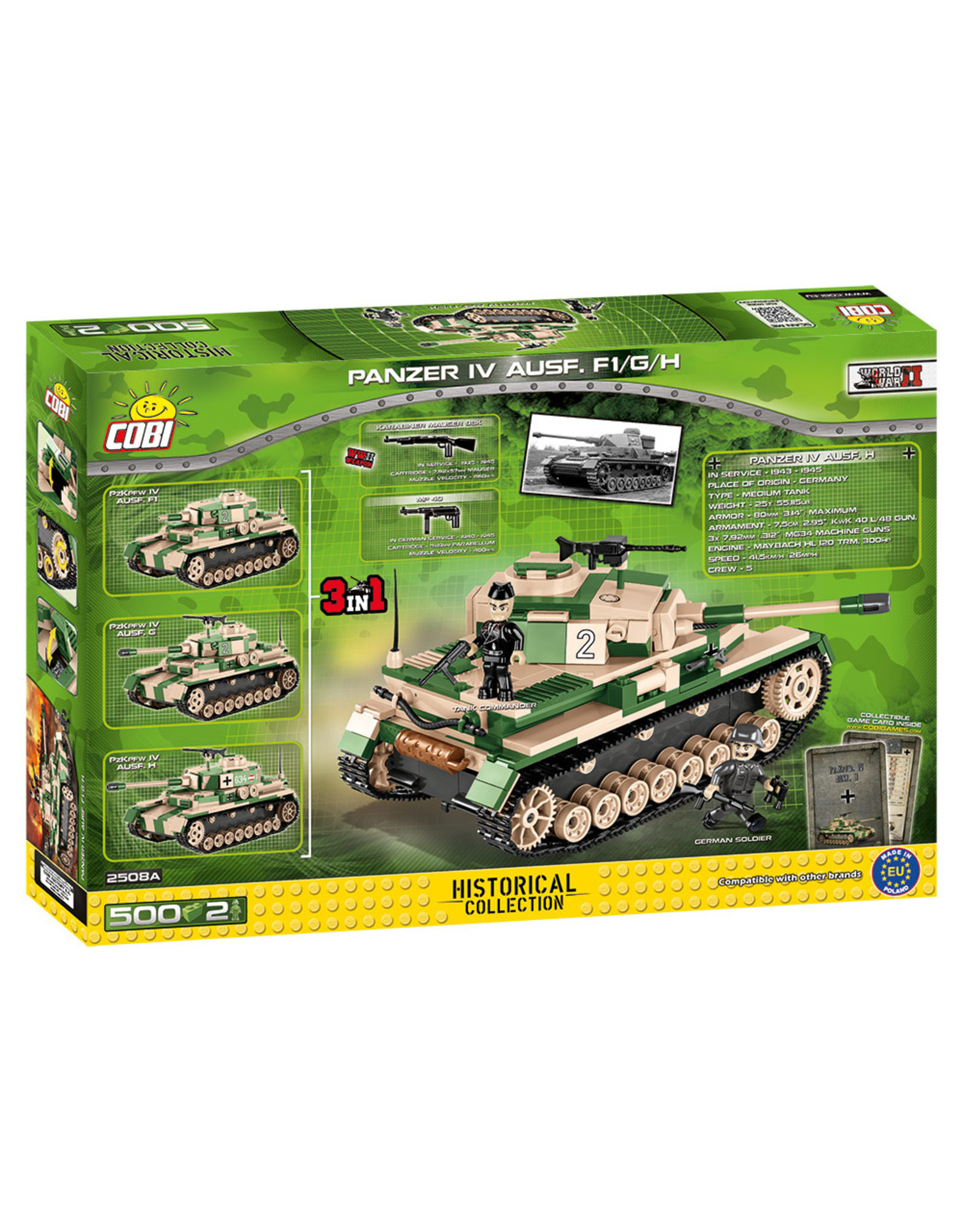 COBI Cobi ww2 2508A Panzer IV Ausf.F1/G/H