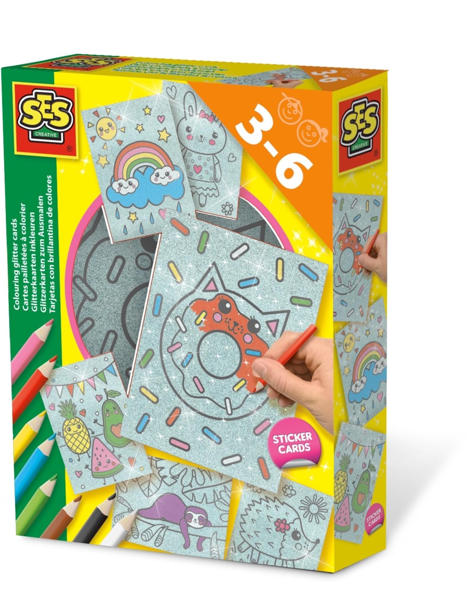 SES Creative *Glitterkaarten inkleuren