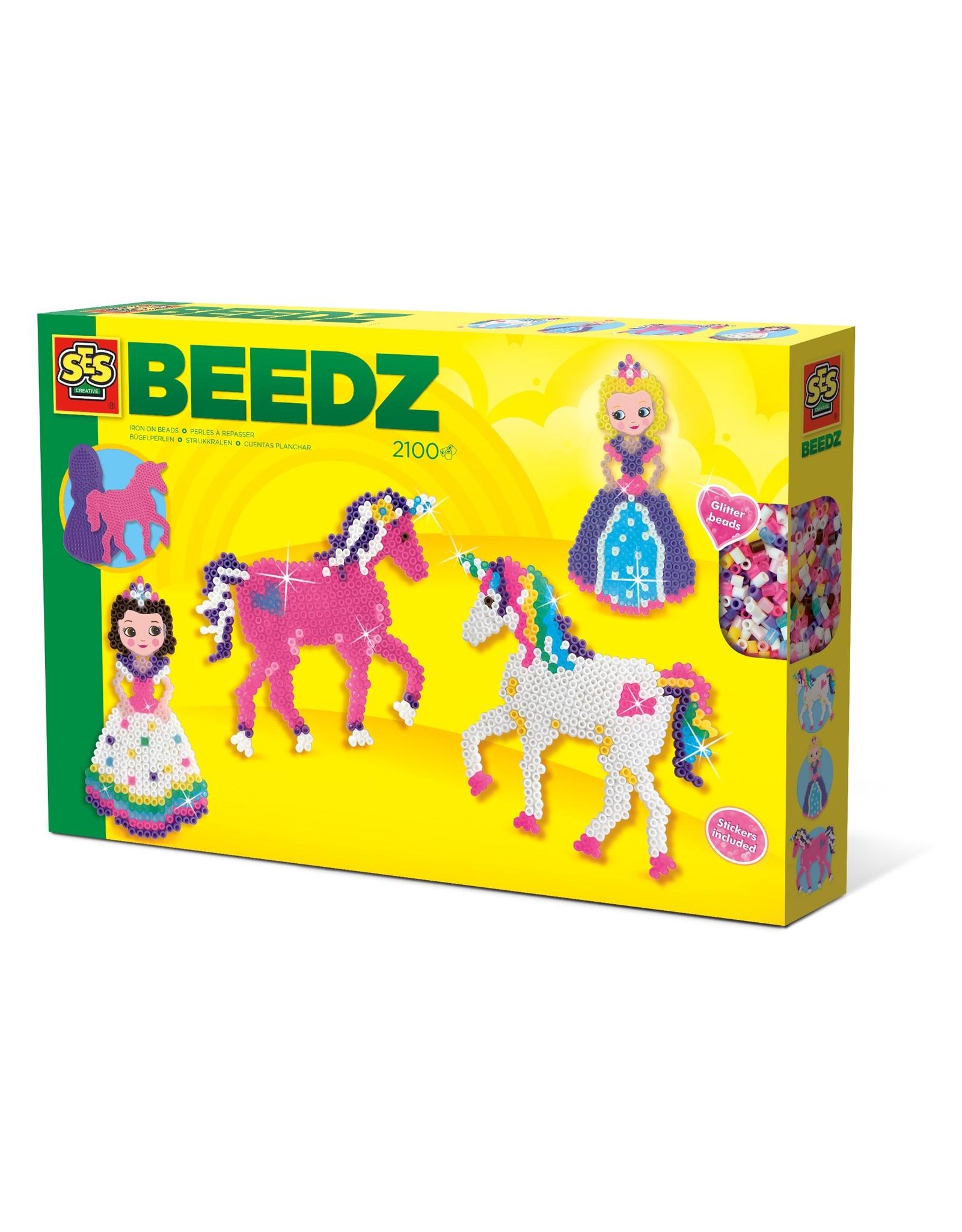 SES Creative Beedz - Strijkkralen Eenhoorns en prinsesjes