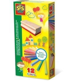SES Creative Kleurkrijtjes met wisser