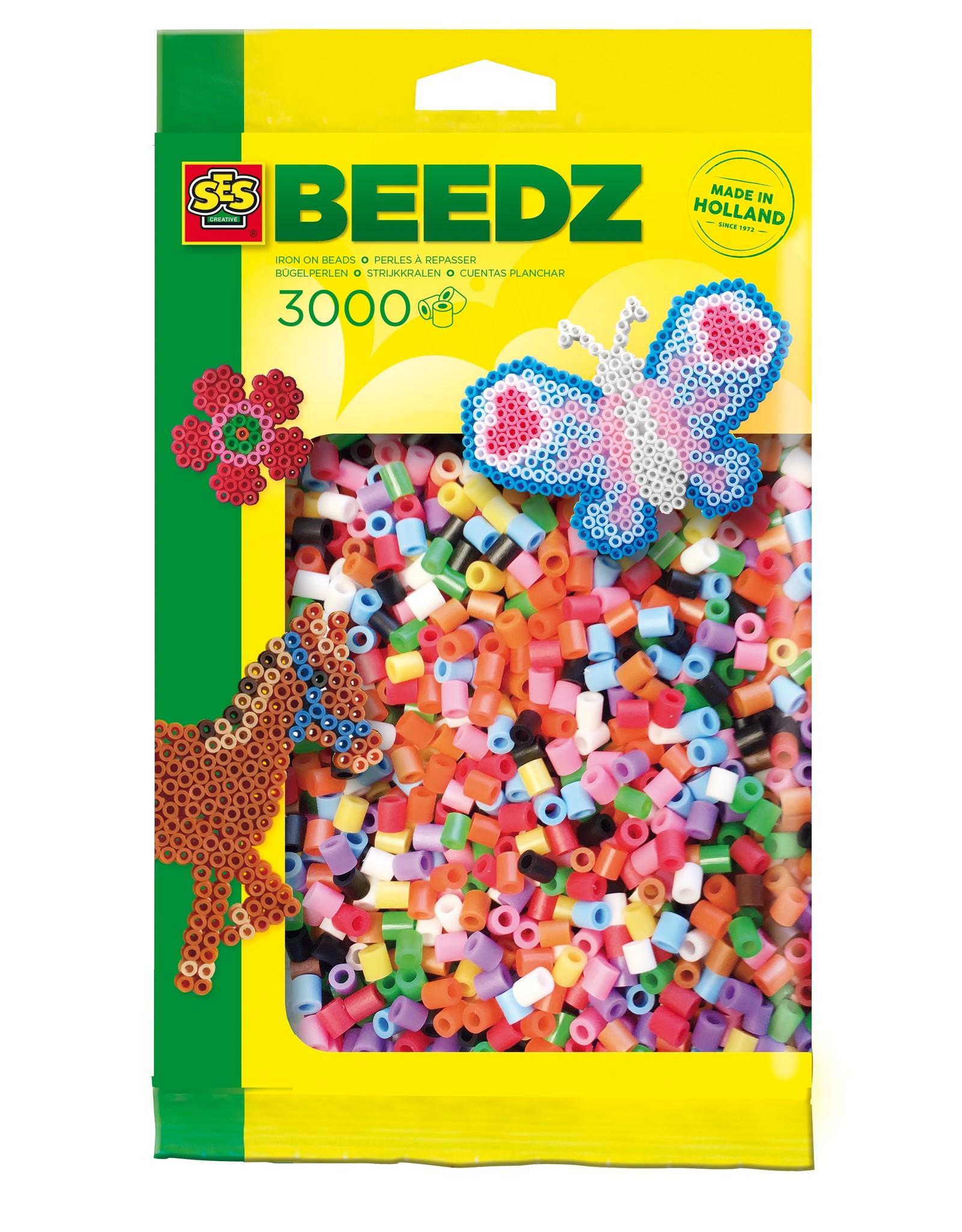 SES Creative Bügelperlen 3000 Stück Basicmix