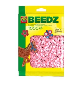 SES Creative Beads 1000 pieces metalic pink