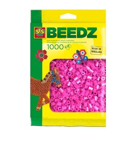 SES Creative Bügelperlen 1000 Stück neon rosa