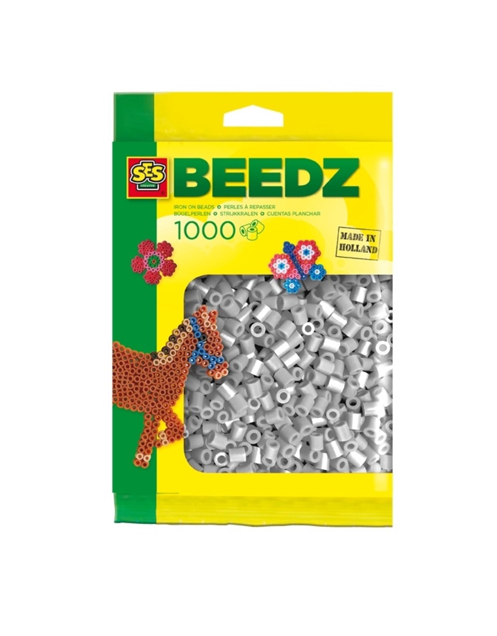 SES Creative Bügelperlen 1000 Stück grau