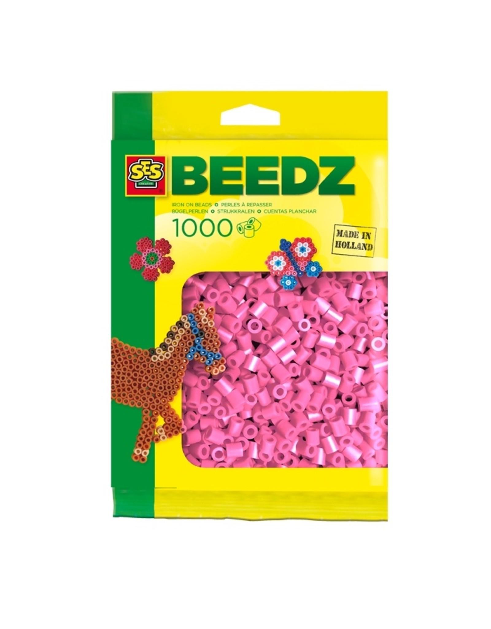 SES Creative Bügelperlen 1000 Stück rosa