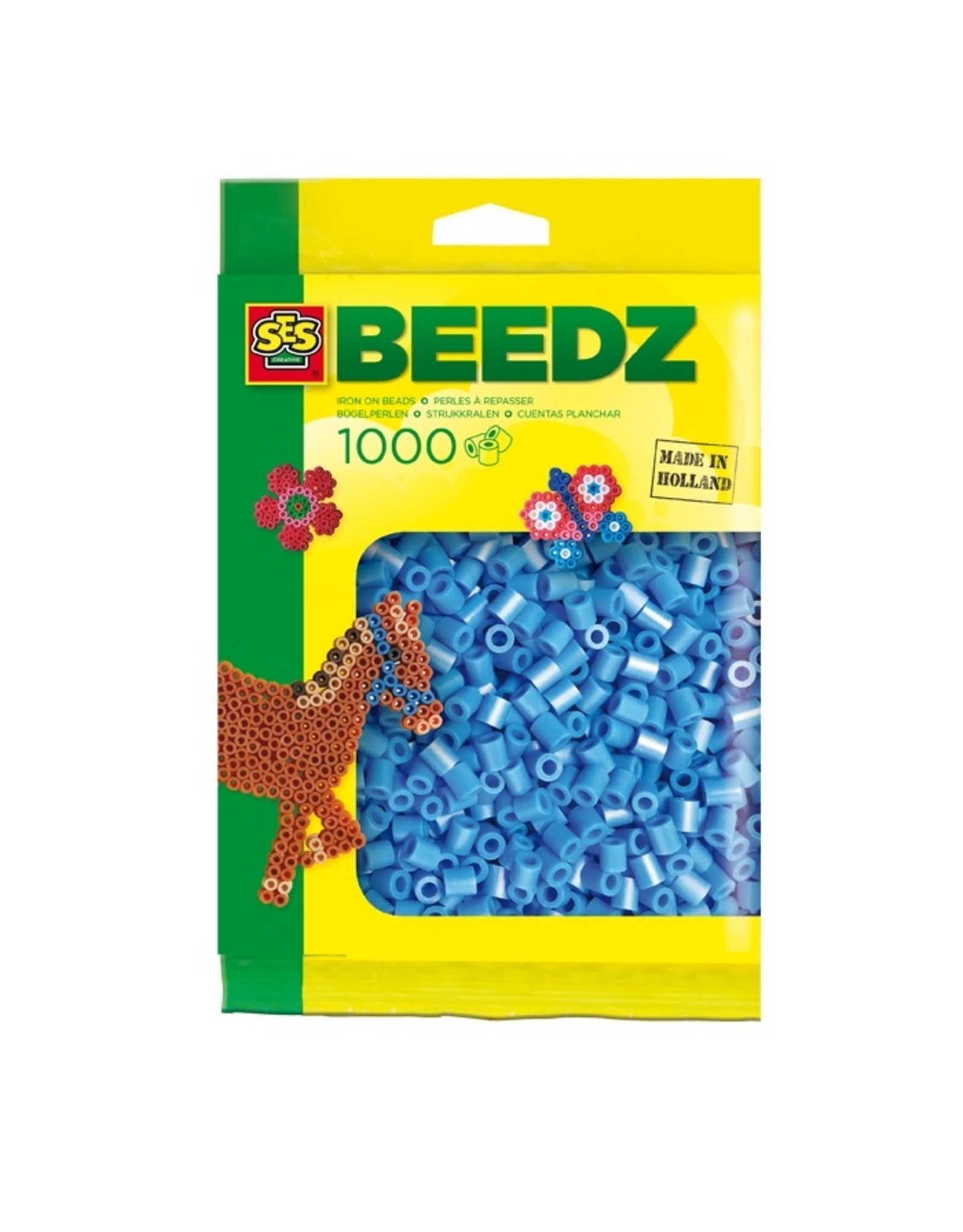 SES Creative Bügelperlen 1000 Stück blau