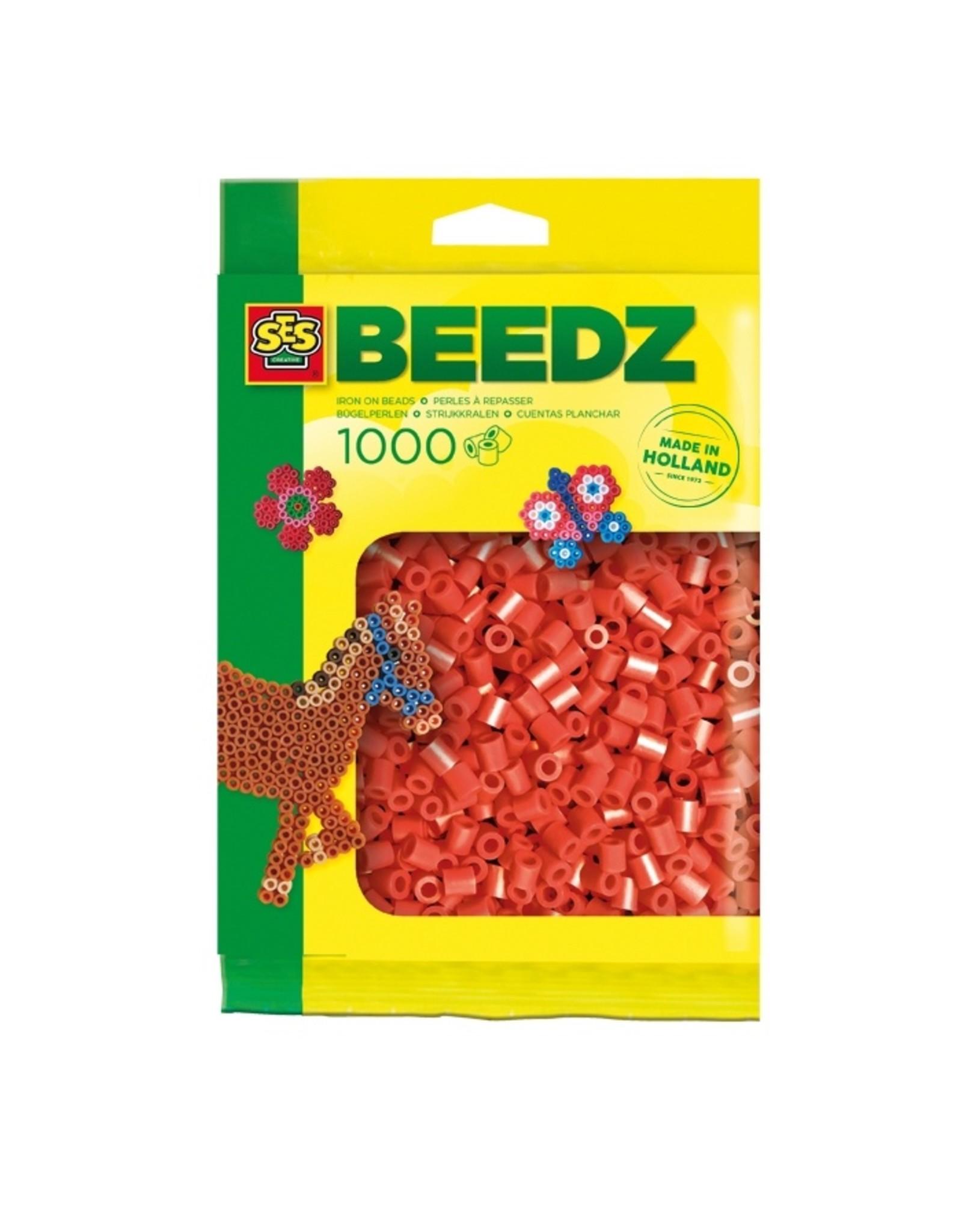 SES Creative Bügelperlen 1000 Stück rot