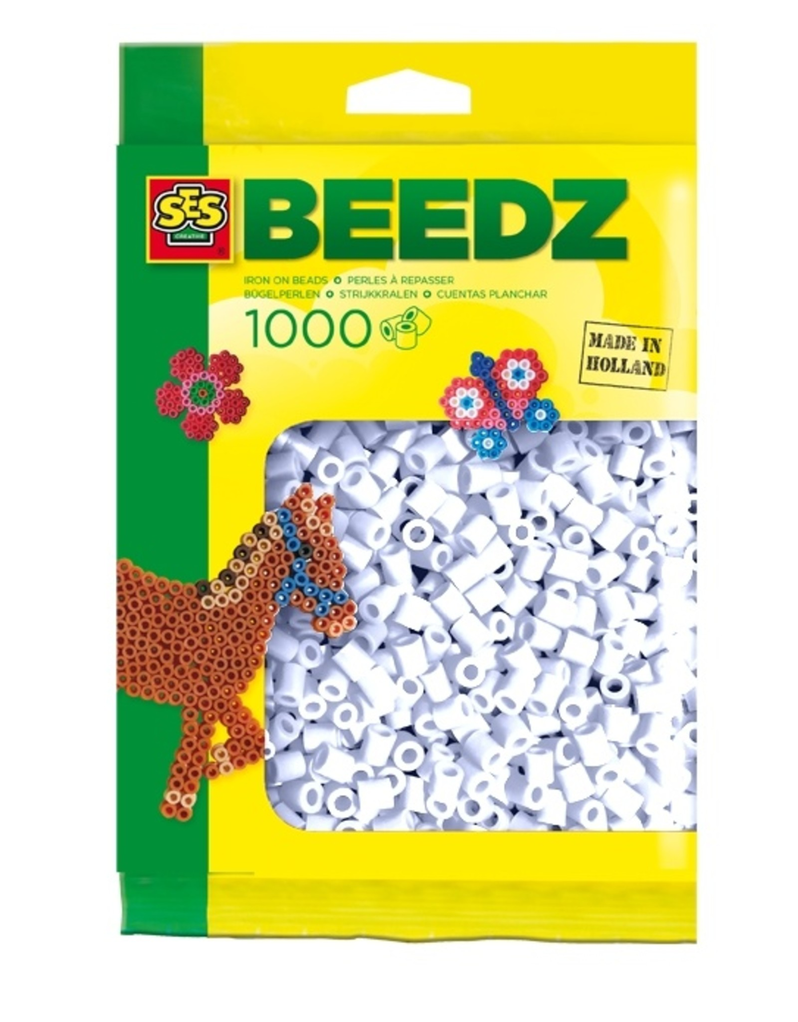 SES Creative Bügelperlen 1000 Stück weiß