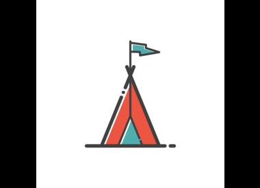 Bau einer Zelt