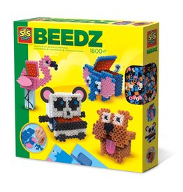 SES Creative Beedz - Iron on beads 3D animal boxes