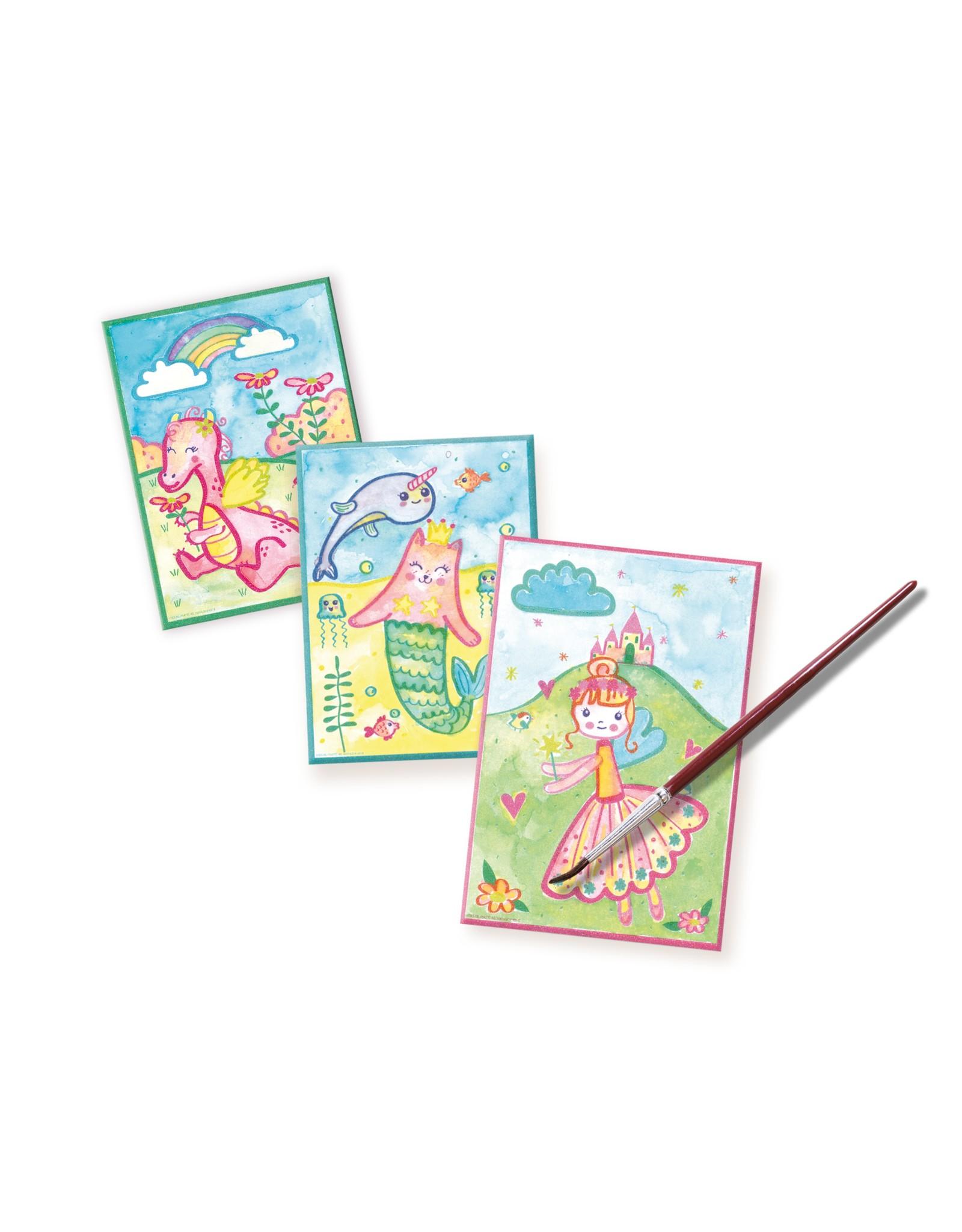 SES Creative Aqualine-Glitzerkarten