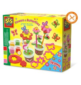 SES Creative Play Dough - Scented flowers and butterflies