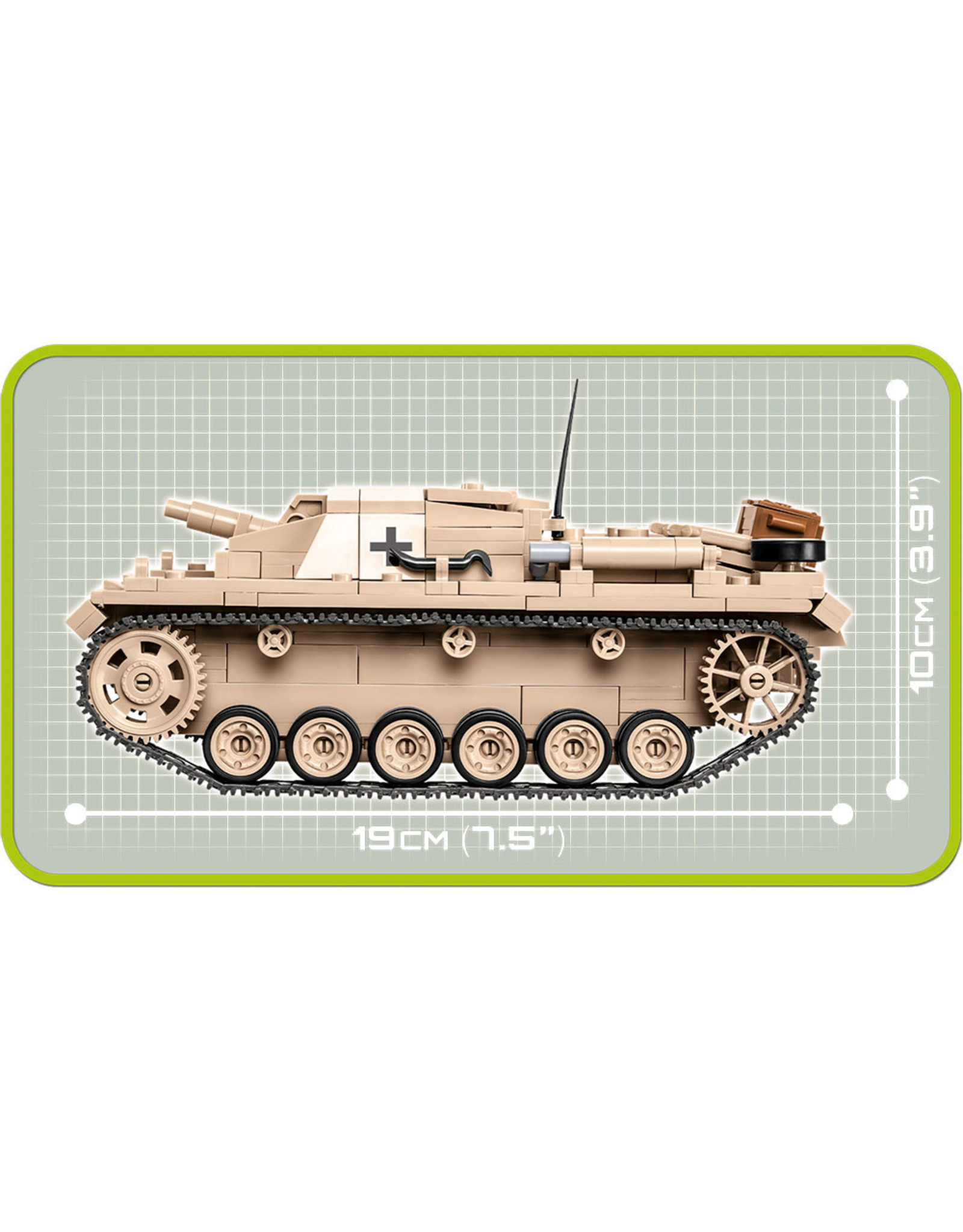COBI COBI WW2 2529 Sturmgeschutz III Ausf.D