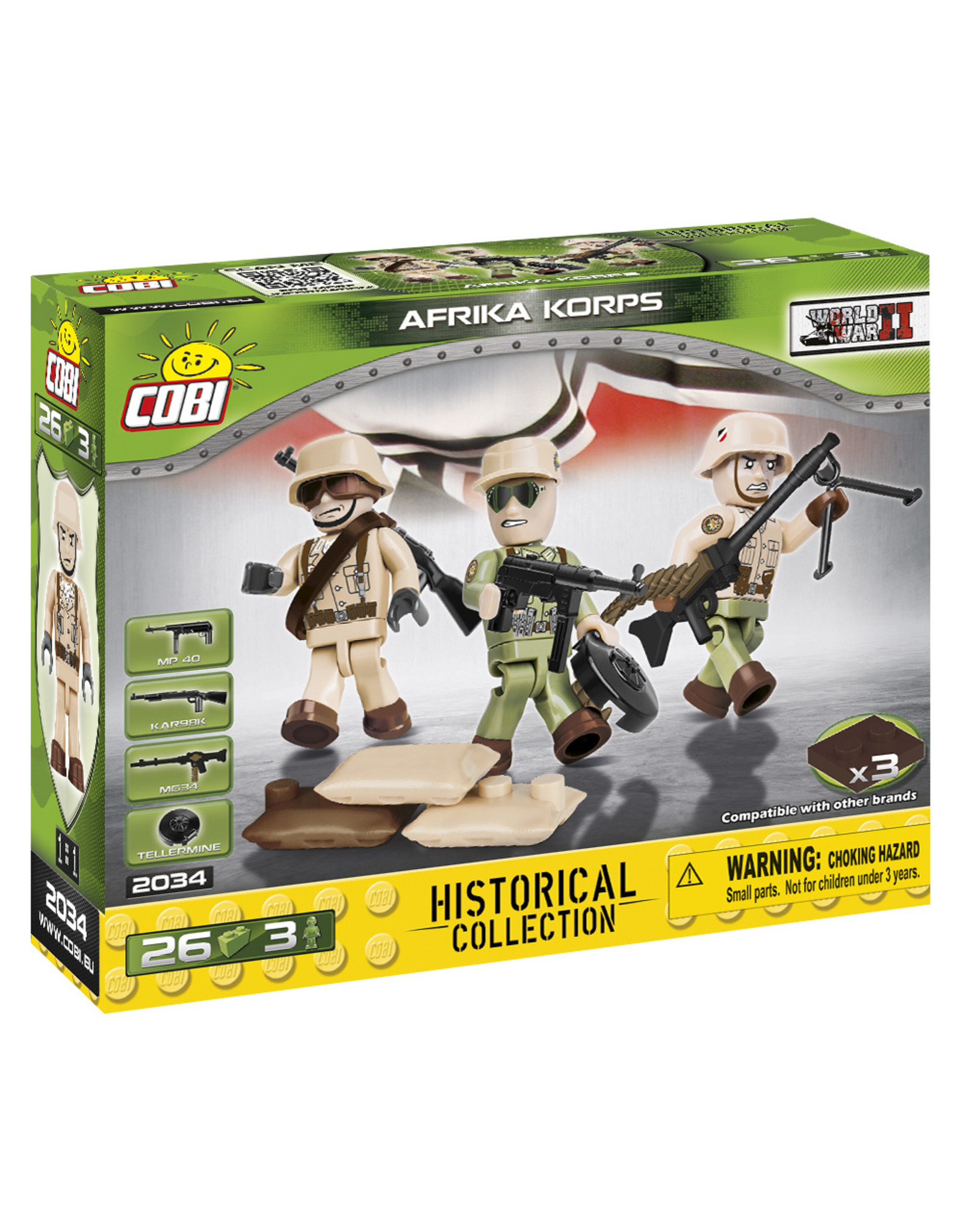 COBI COBI WW2  2034 - Figures German Africa Korps