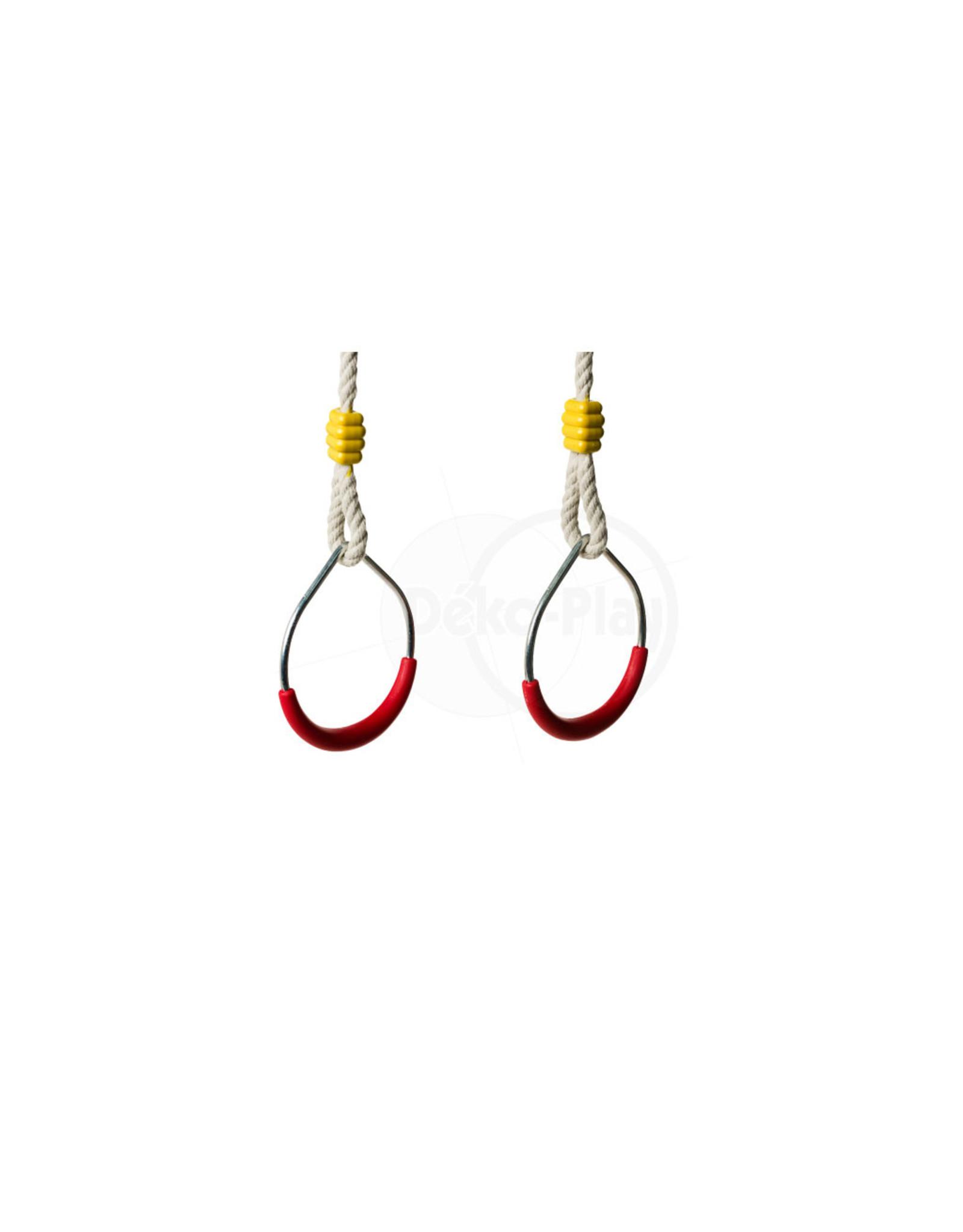 Déko-Play Déko-Play metalen ringen set 12,5 cm met PH touwen