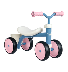 Smoby Rookie loopauto roze-blauw