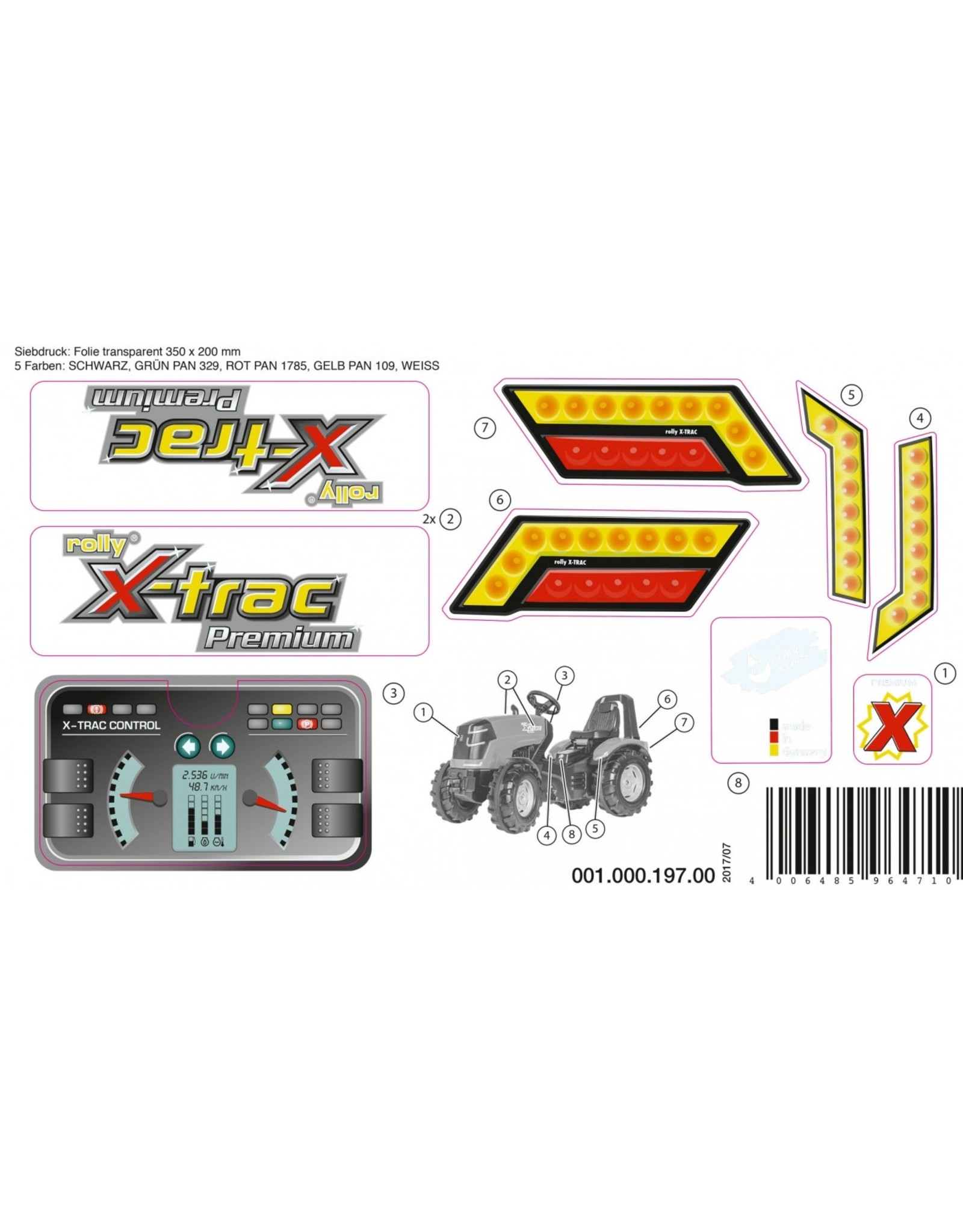 Rolly Toys Aufkleber X-Trac Premium