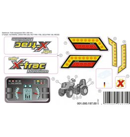 Rolly Toys Sticker X-trac Premium