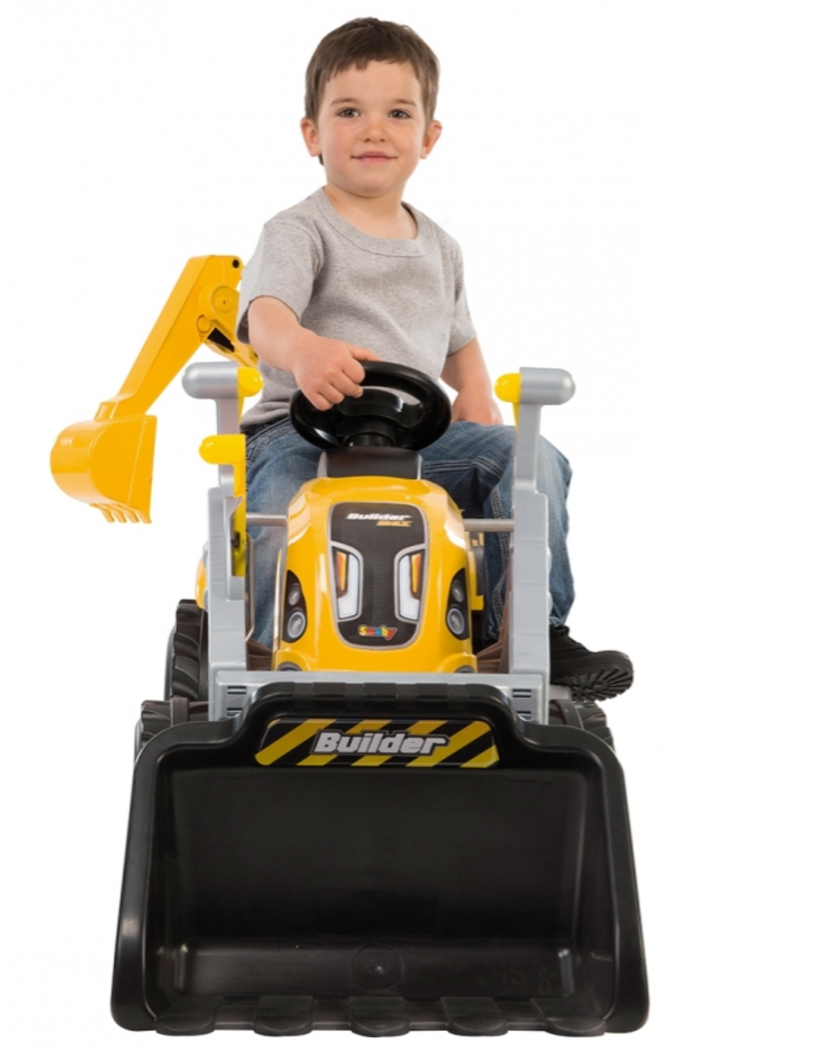 Smoby Smoby Builder Max tractor + aanhanger