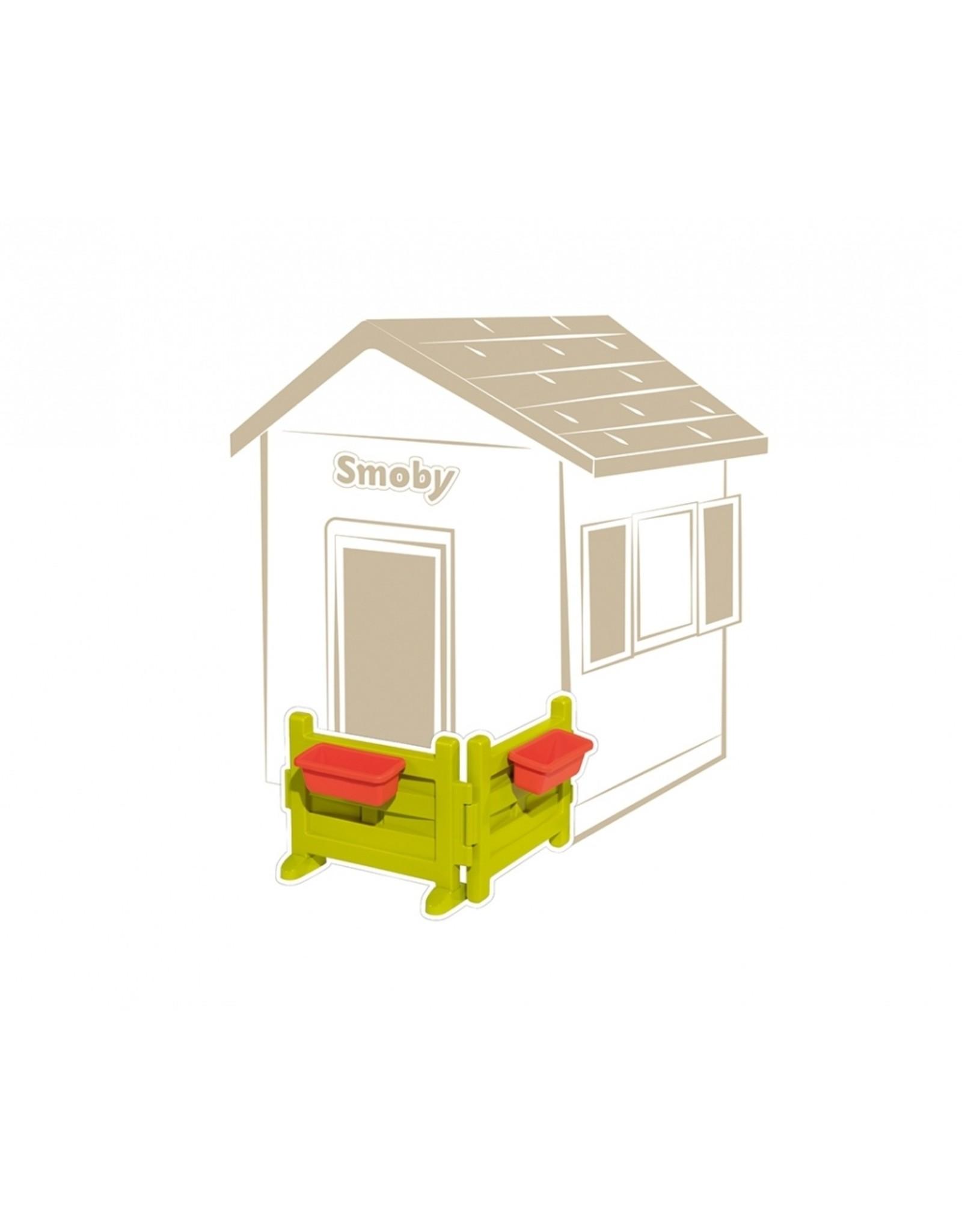 Smoby SMOBY Tuinhek  met bloembakken 810904