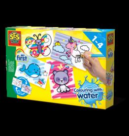 SES Creative Kleuren met water - Fantasie dieren