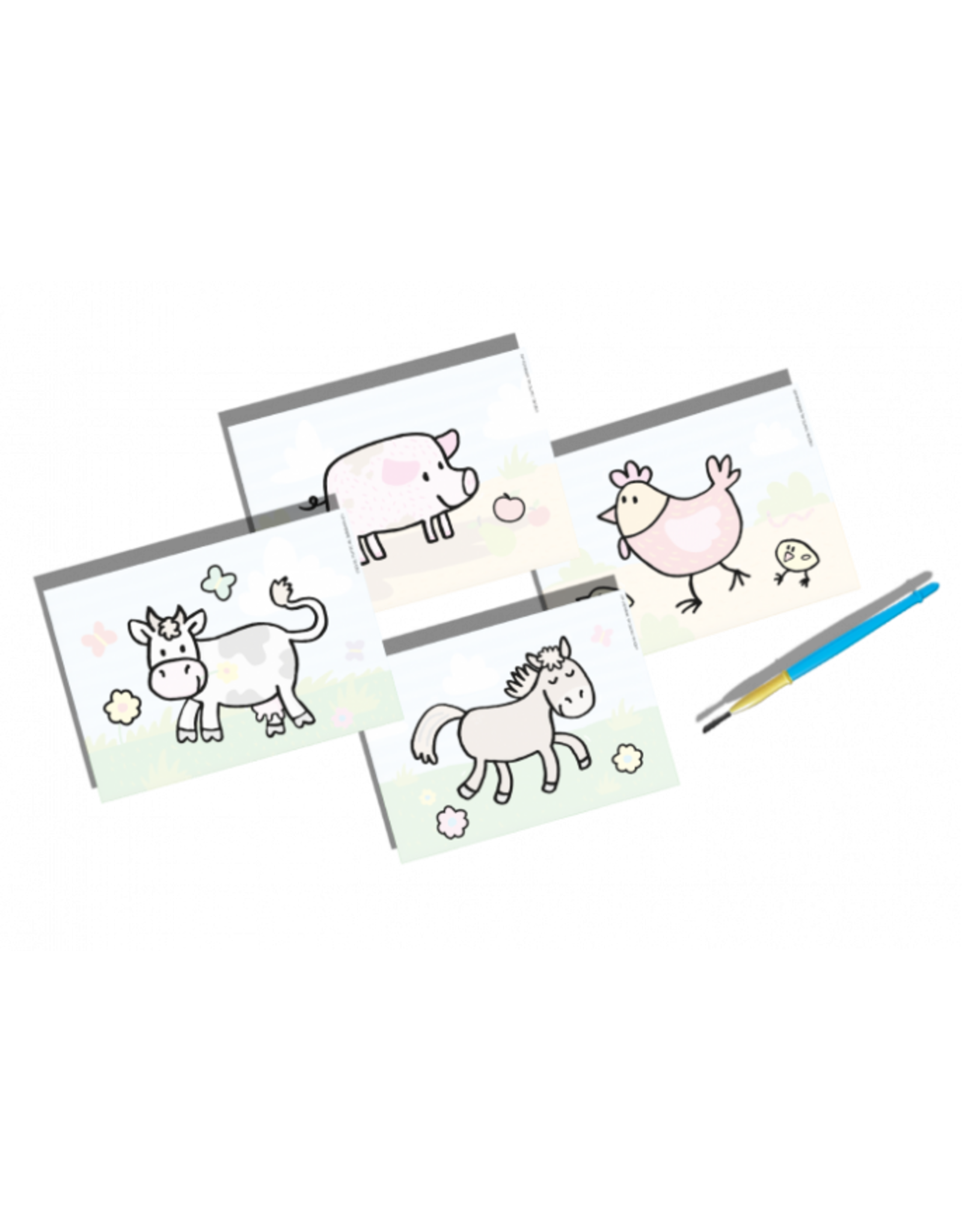 SES Creative Malen mit Wasser - Bauernhof Tiere