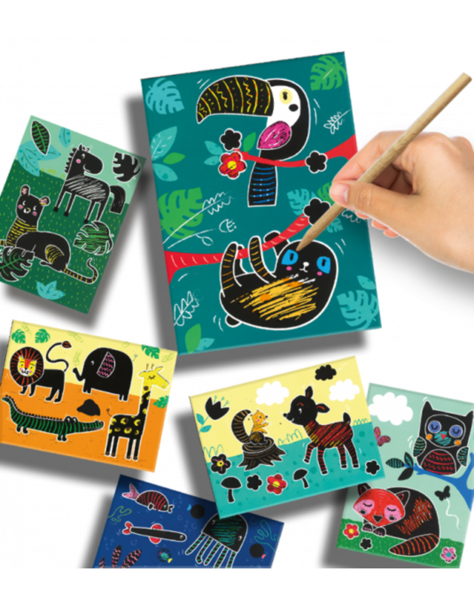 SES Creative Scratch art (dieren)