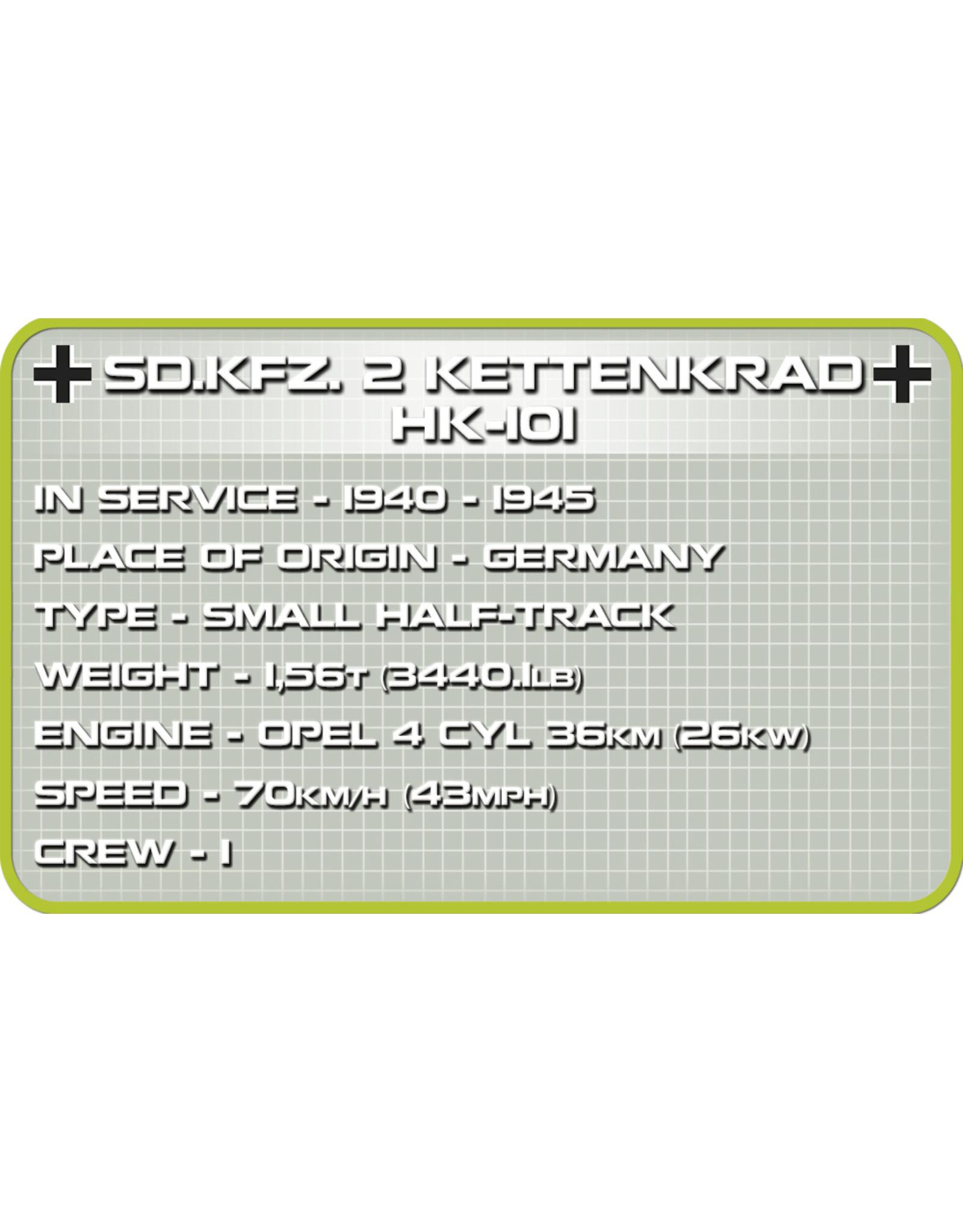 COBI COBI  WW2 2401 - SD.KFZ. 2 Kettenkrad