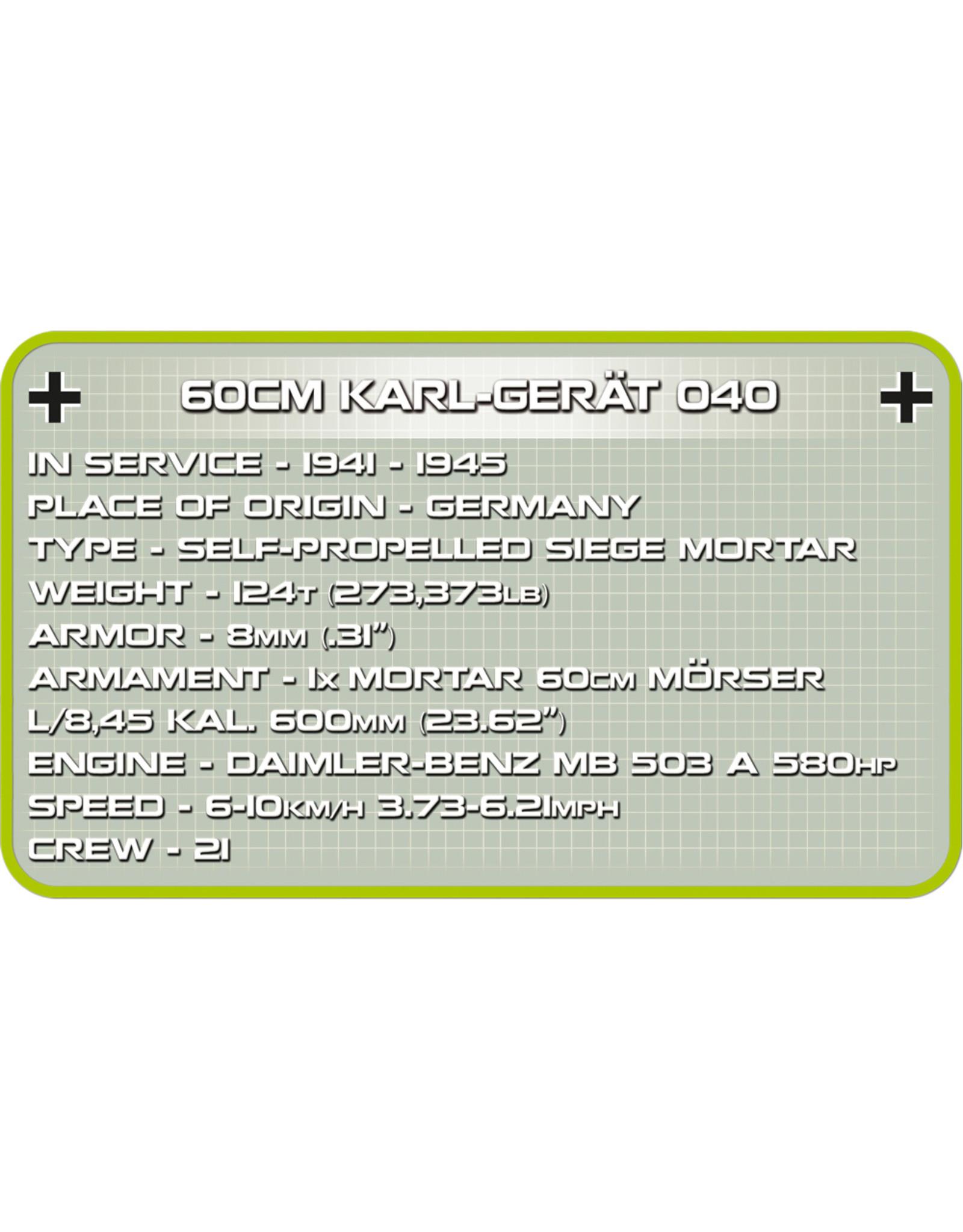 COBI COBI WW2 2530 60cm Karl-Gerat 040 Adam