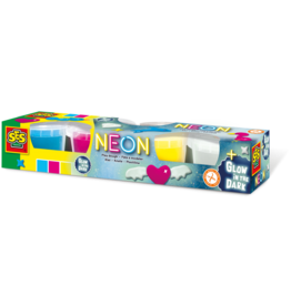 SES Creative Neon en Glow in the dark klei 4x90gr