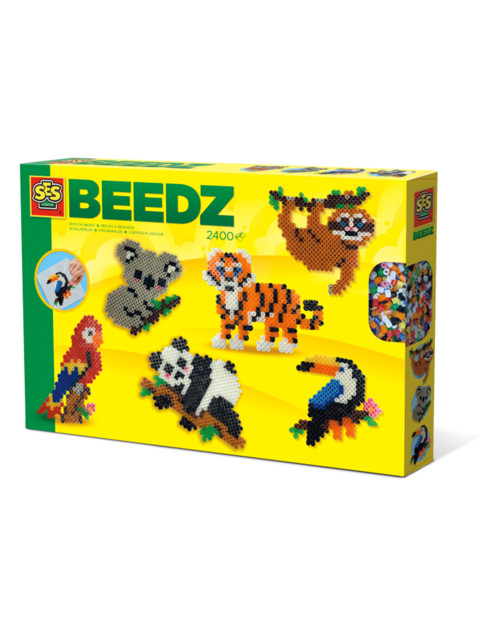 SES Creative Beedz - Strijkkralen - Jungle dieren