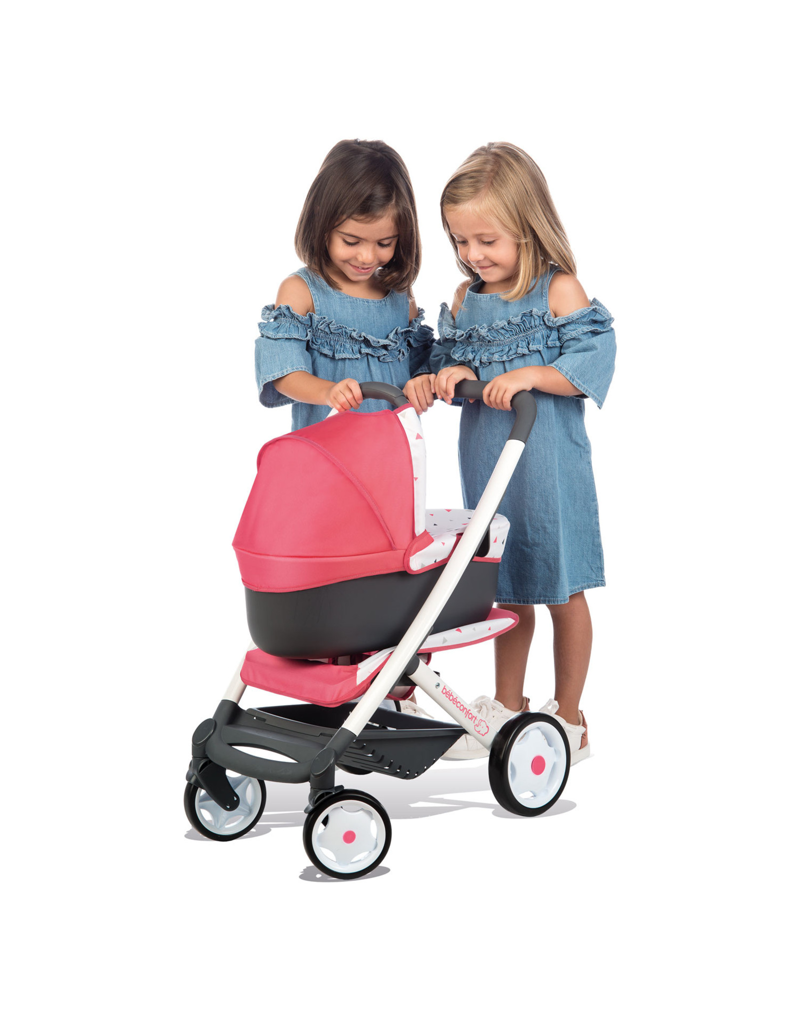 Smoby Smoby - BB-Confort 3-in-1 Multifunktions-Puppenwagen - Rosa