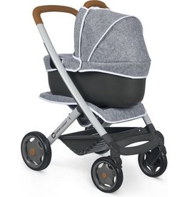 Smoby BB-Confort Combi Pushchair + Pram for baby doll  - grey