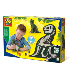 SES Creative Casting and painting - T-Rex with skeleton